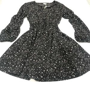 Good Luck Gem Black Star Print Dress